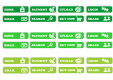 Green push. Green button for web design stock illustration