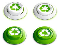Green push buttons Royalty Free Stock Images