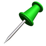 Green push pin Royalty Free Stock Photos
