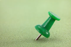 Green push pin Royalty Free Stock Photo