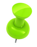Green push pin Royalty Free Stock Images