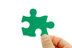 Green puzzle Royalty Free Stock Photo