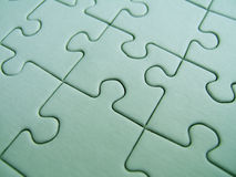 Green puzzle Stock Photography