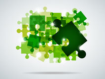 Green puzzle Royalty Free Stock Photography