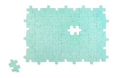Green puzzle Stock Photo