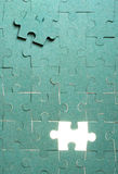 Green puzzle Stock Image