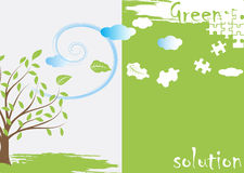 Green puzzle. Abstract ecological background.Vector illustration Stock Photography
