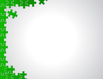 Green puzzle borders illustration design Stock Photos