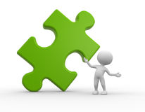 Green puzzle Stock Photo