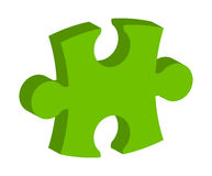 Green puzzle  3d vector symbol icon design. Beautiful illustrati Royalty Free Stock Photos