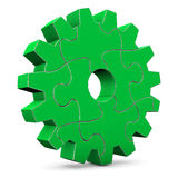Green Puzzle Gear Wheel Royalty Free Stock Image