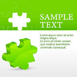 Green puzzle Royalty Free Stock Photos