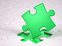 Green puzzle piece Royalty Free Stock Image