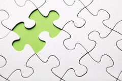 Green puzzle piece missing Royalty Free Stock Image