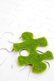 Green puzzle piece Stock Photo