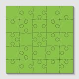 25 Green Puzzle Pieces - JigSaw - Vector. 25 Green Puzzle Pieces Arranged in a Square - JigSaw - Vector Illustration Stock Photo
