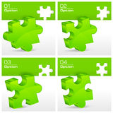 Green puzzles Royalty Free Stock Photography