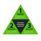 Green pyramid with three numbered choices Stock Photography