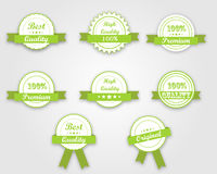 Green quality ribbons Royalty Free Stock Photo
