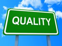 Green quality sign Royalty Free Stock Photo