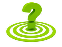 Green question and circles Royalty Free Stock Images