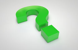 Green question mark Stock Photos