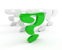 Green question-mark. leadership concept Stock Photography