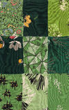 Green quilt Stock Image