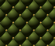 Green quilted background. Stock Photo
