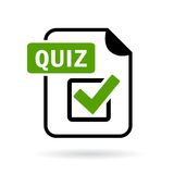 Green quiz icon. On white background Royalty Free Stock Photo