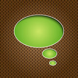 Green quote speech bubble Royalty Free Stock Image