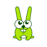 Green rabbit sign Royalty Free Stock Images