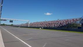 Raceway traffic lights on pit line. Green raceway traffic lights on pit line stock video
