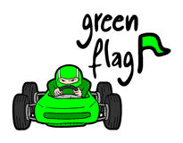 Green racing car Royalty Free Stock Photos