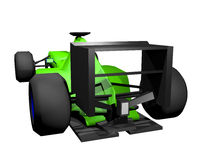 Green racing car Stock Photo