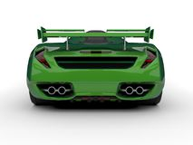 Green racing concept car. Image of a car on a white background. 3d rendering. Stock Photo