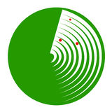 A green radar Stock Images