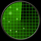 Green radar Royalty Free Stock Image