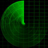 Green radar Royalty Free Stock Photo