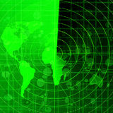 Green radar Stock Photography