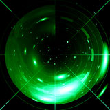 Green radar Royalty Free Stock Images