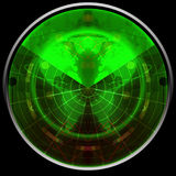 Green radar Royalty Free Stock Photography
