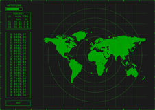 Green radar screen Royalty Free Stock Images