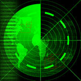 Green radar screen Royalty Free Stock Photos