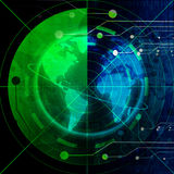 Green radar screen Stock Images