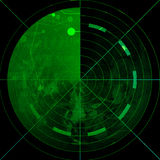 Green radar screen Stock Photo