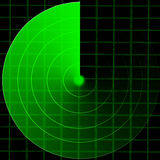 Green radar screen Royalty Free Stock Photo