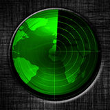 Green radar screen Royalty Free Stock Photography