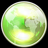 Green radar screen Stock Images