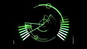 Green radar screen stock video